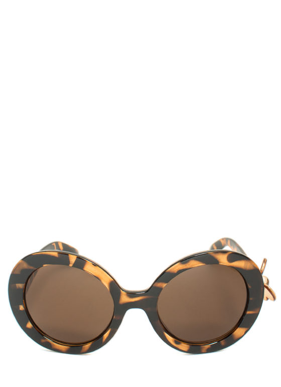 Butterfly Accent Sunglasses TORTOISE
