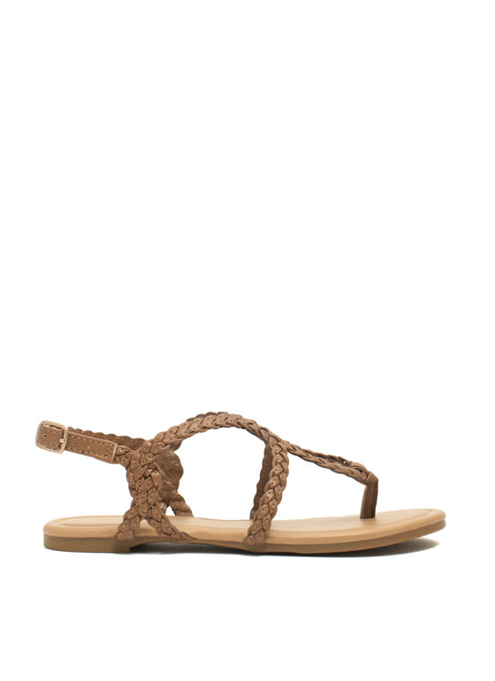 Braided Loop Sandals TAN