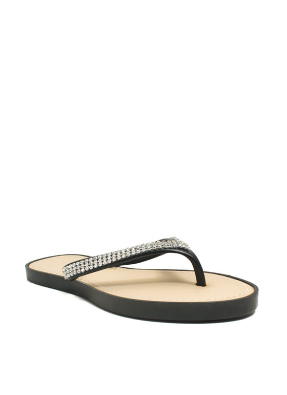 The Jewels Thong Sandals BLACK
