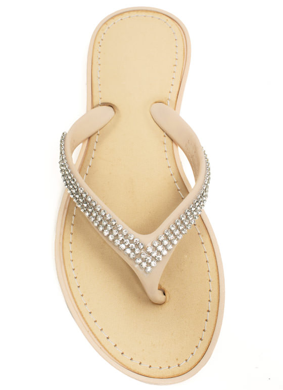 The Jewels Thong Sandals NUDE
