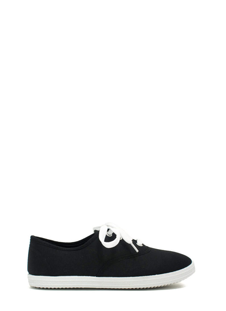 Solid Foundation Canvas Sneakers BLACK