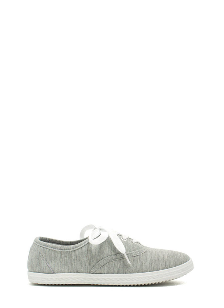 Solid Foundation Canvas Sneakers GREY