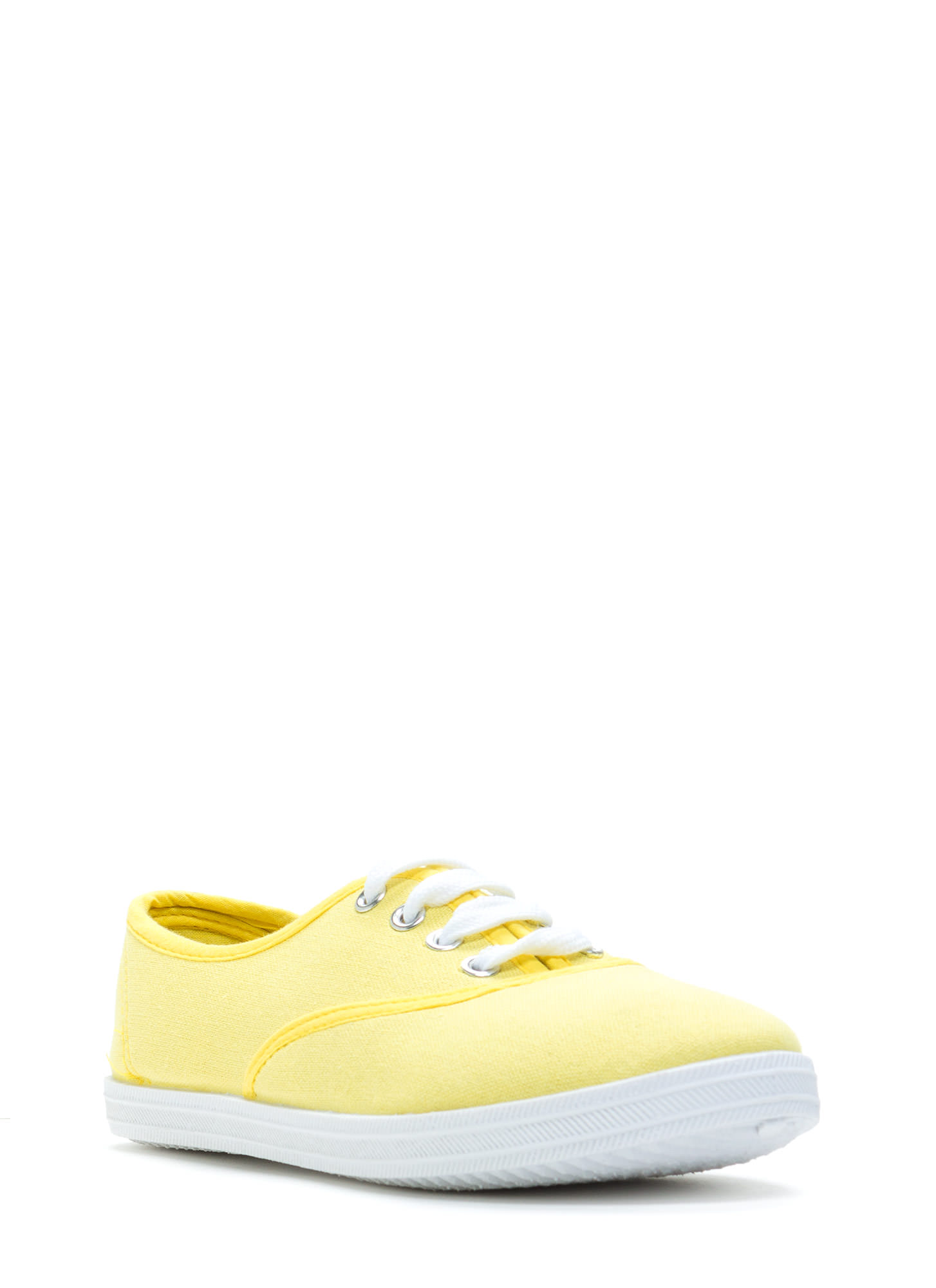 Solid Foundation Canvas Sneakers LEMON
