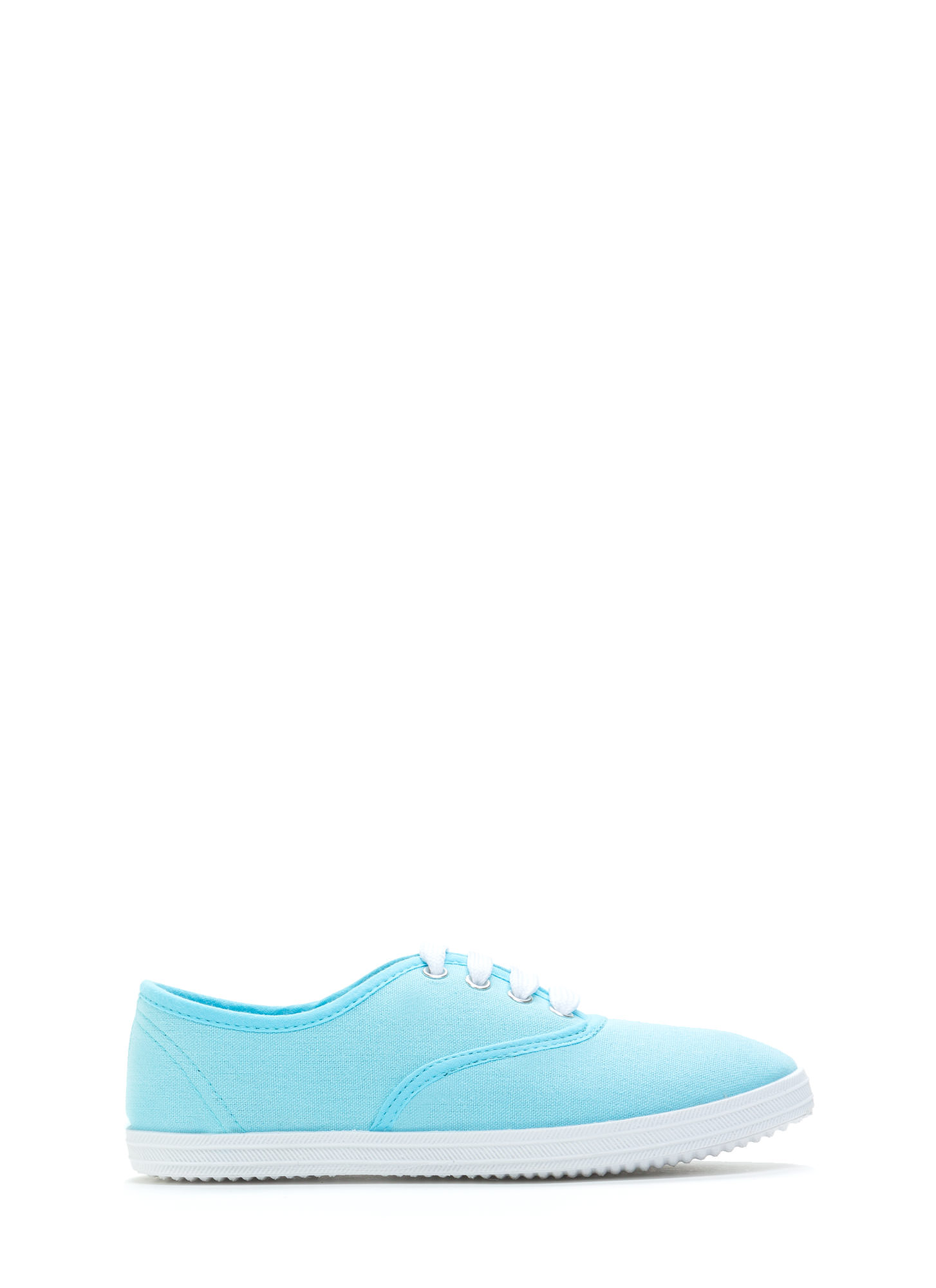 Solid Foundation Canvas Sneakers POWDERBLUE