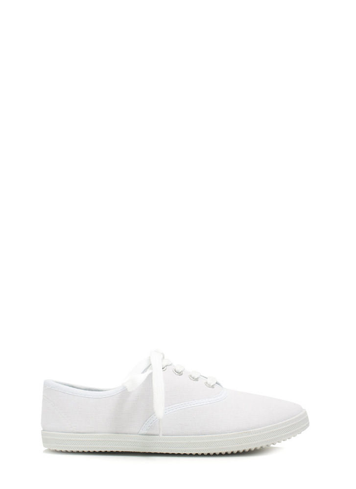 Solid Foundation Canvas Sneakers WHITE