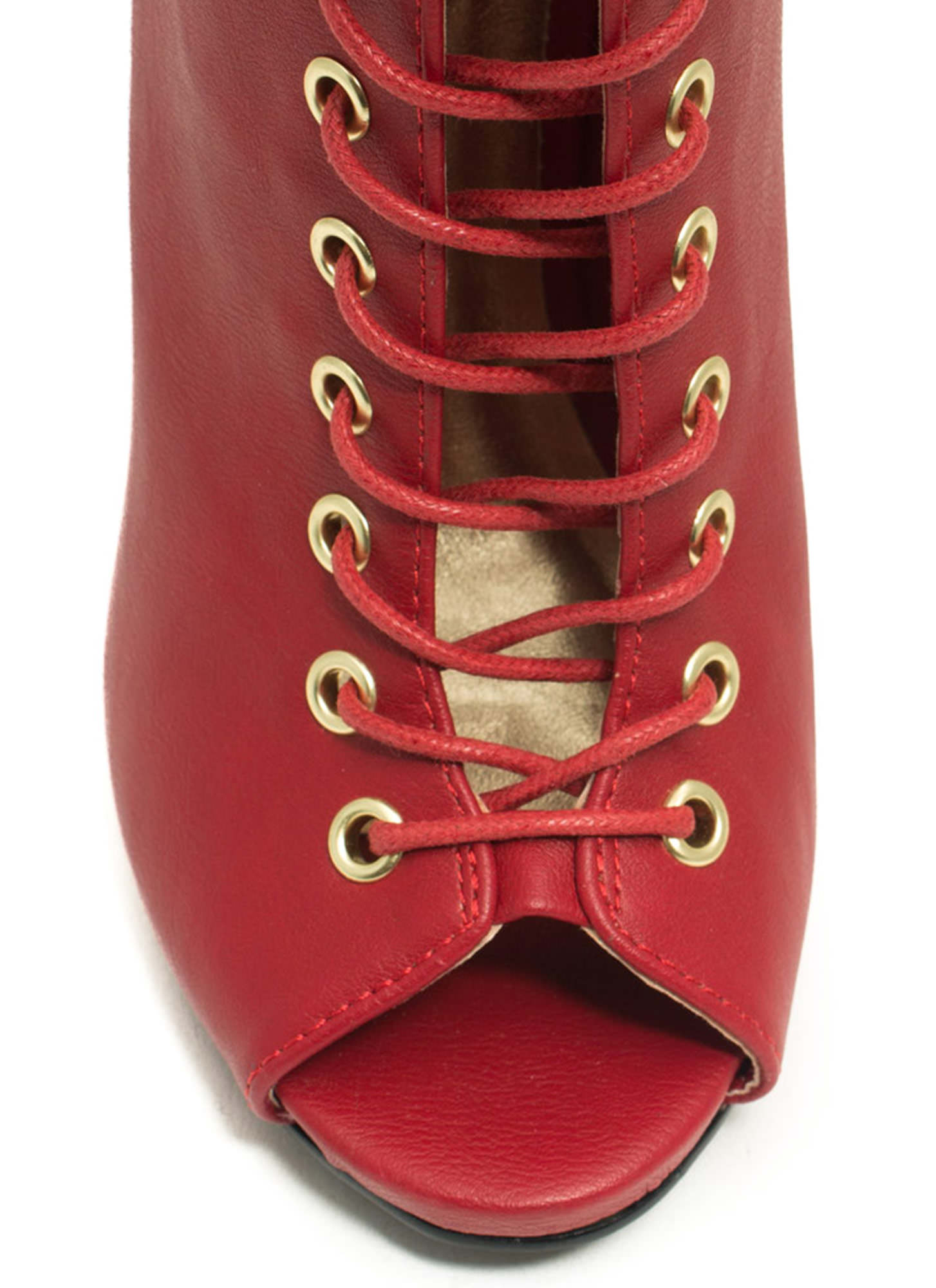 Better Laced Than Never Booties RED (Final Sale)