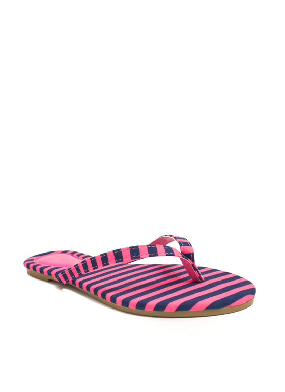 Patterned Print-cess Thong Sandals PINKBLUE