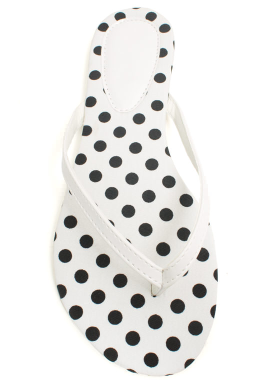 Patterned Print-cess Thong Sandals WHITEBLACK