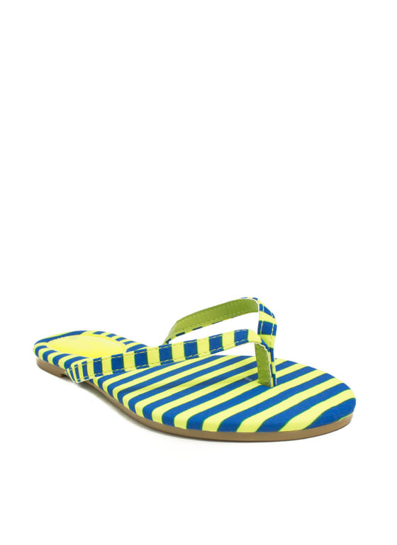 Patterned Print-cess Thong Sandals YELLOWBLUE