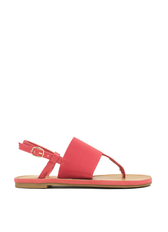 Stretch The Rules Elastic Sandals CORAL
