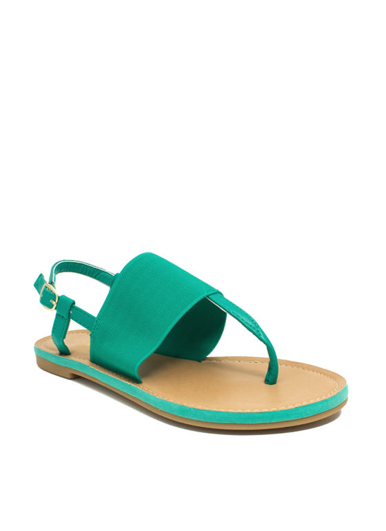 Stretch The Rules Elastic Sandals SEAFOAM