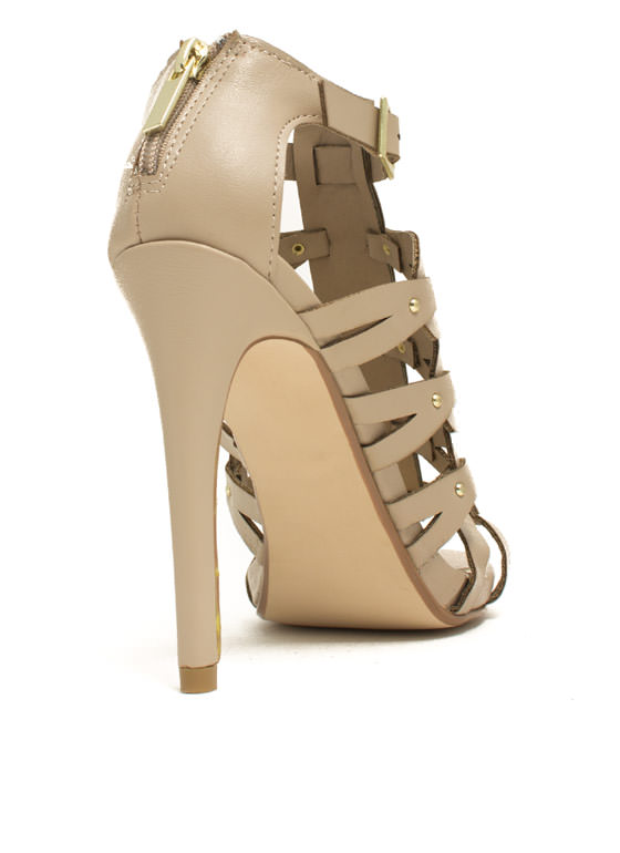 Keep You In The Loop Stiletto Heels NUDE