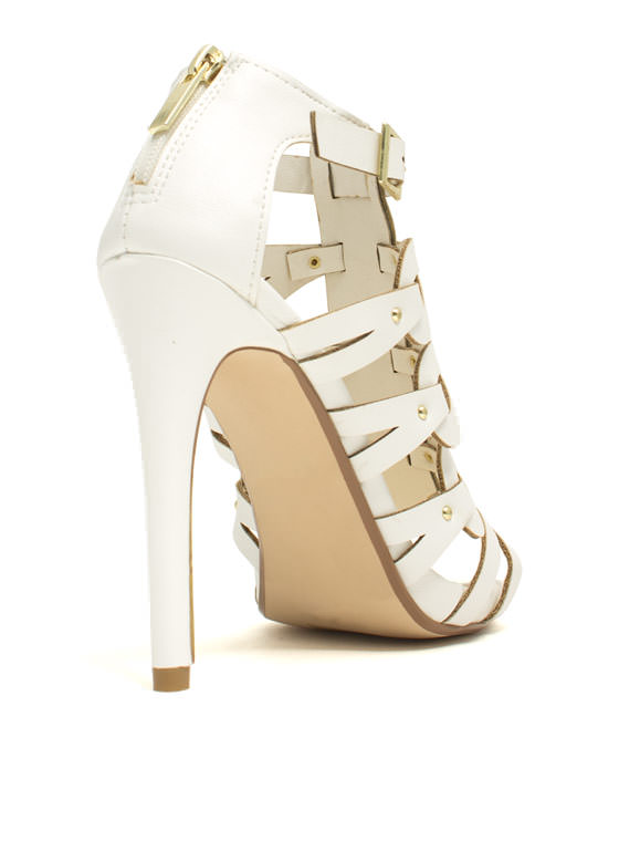 Keep You In The Loop Stiletto Heels WHITE