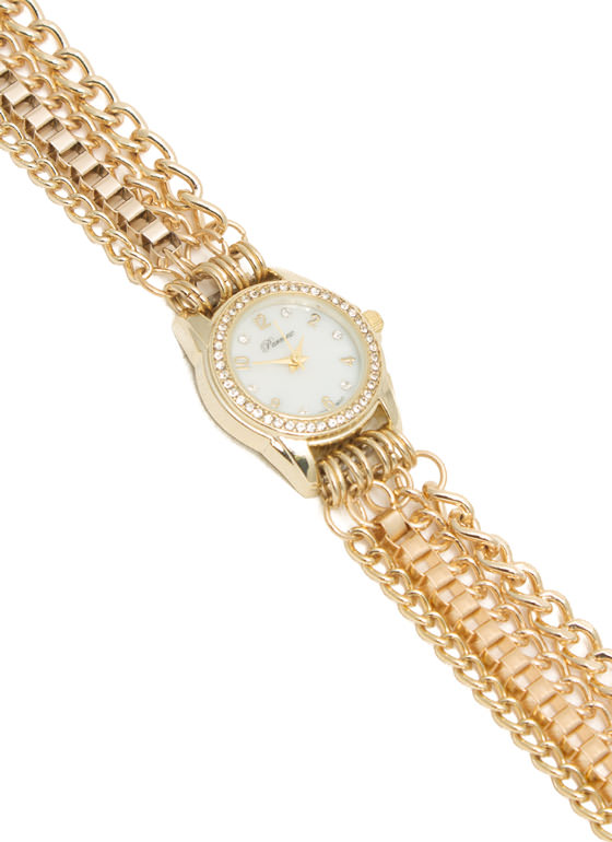 Wraparound Chain Watch GOLD