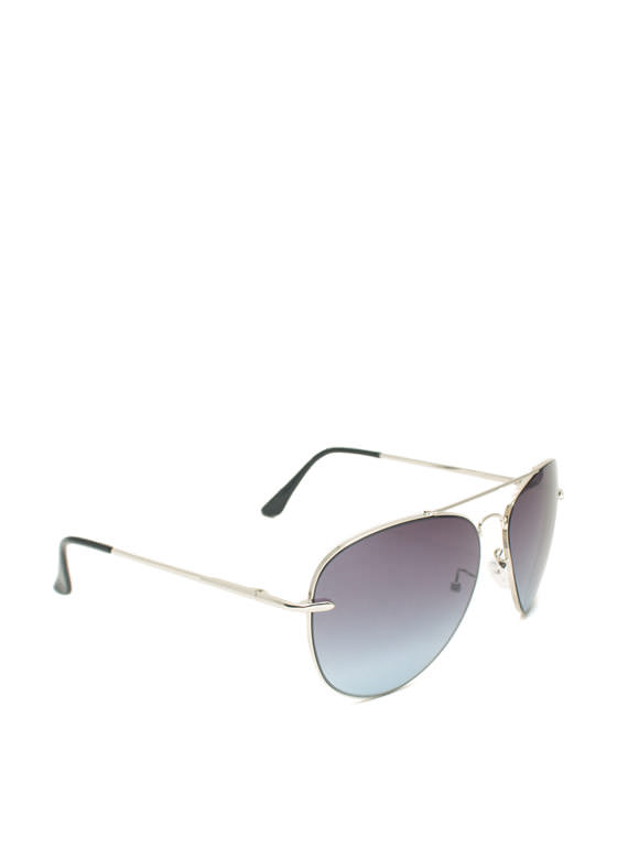 Thin N Slim Aviator Sunglasses SILVERBLUE