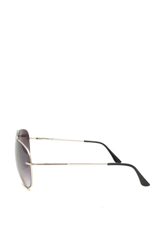 Thin N Slim Aviator Sunglasses SILVERCHAR
