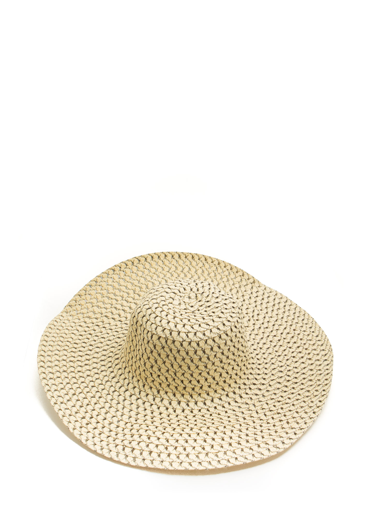 Perforated Floppy Brim Sunhat BEIGEBLACK