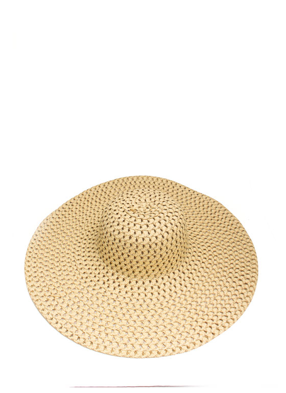 Perforated Floppy Brim Sunhat BEIGEBROWN