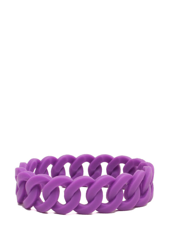 Stretchy Jelly Cable Chain Bracelet PURPLE