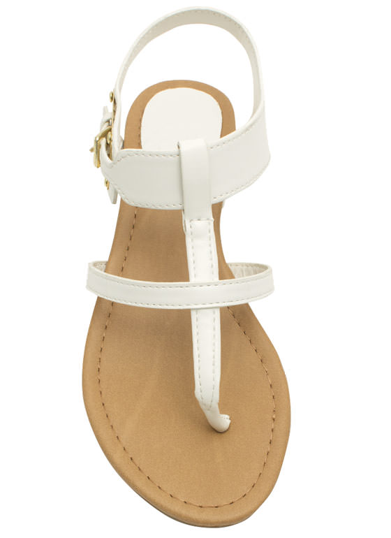 Slim Caged Plate Sandals WHITE