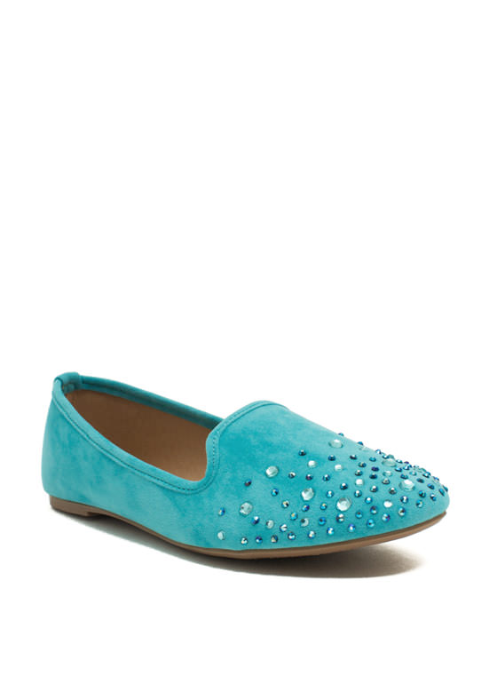 Glitzy Life Smoking Flats BLUE