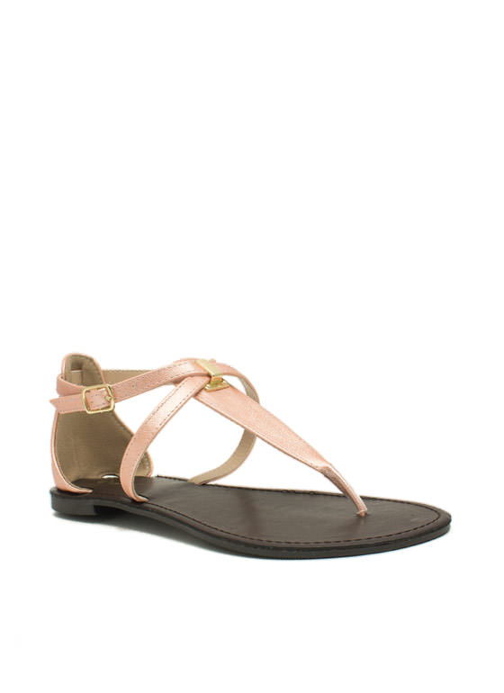 Hold Your Tongue Strappy Sandals NUDE