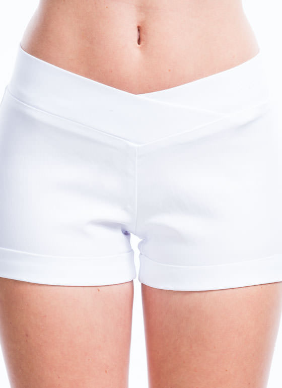 Called Your Cuff V-Front Shorts WHITE