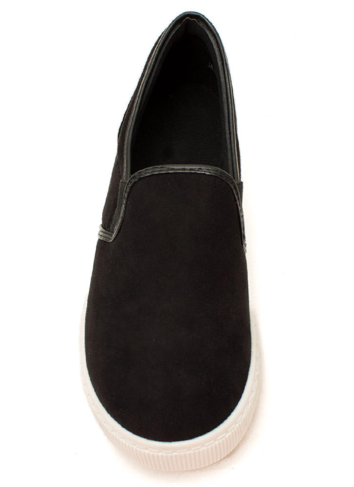 Round The Corners Skimmer Flats BLACK