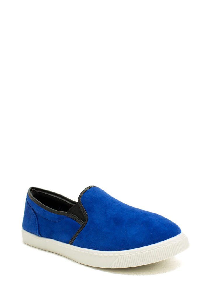 Round The Corners Skimmer Flats BLUE
