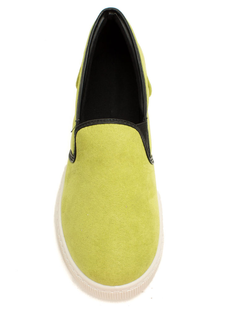 Round The Corners Skimmer Flats LIME