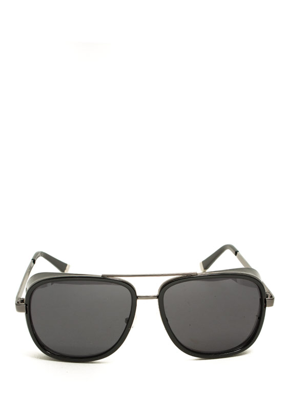 Side Paneled Sunglasses PEWTERBLACK