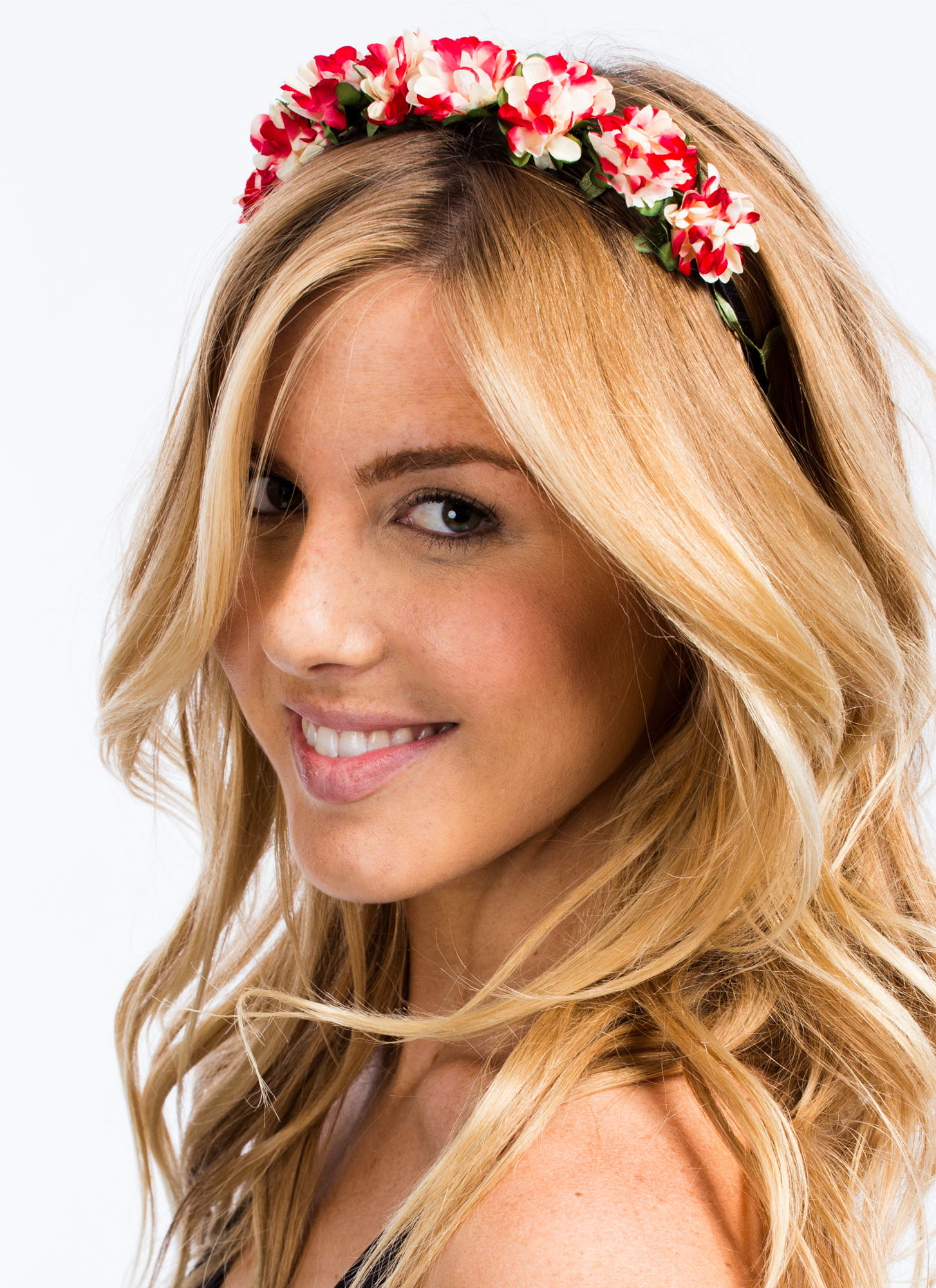Dainty Floral Blossom Headband RED