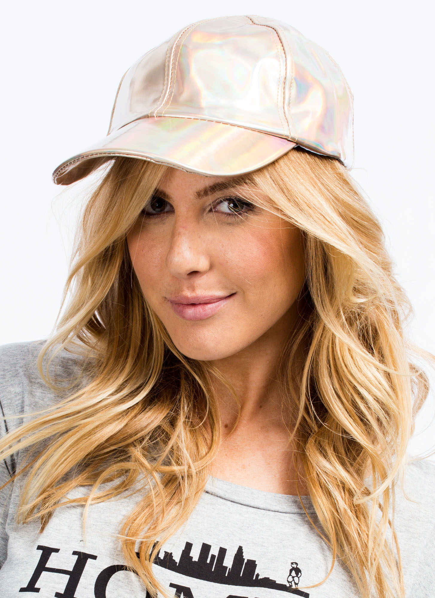 Adjustable Metallic Hat GOLD