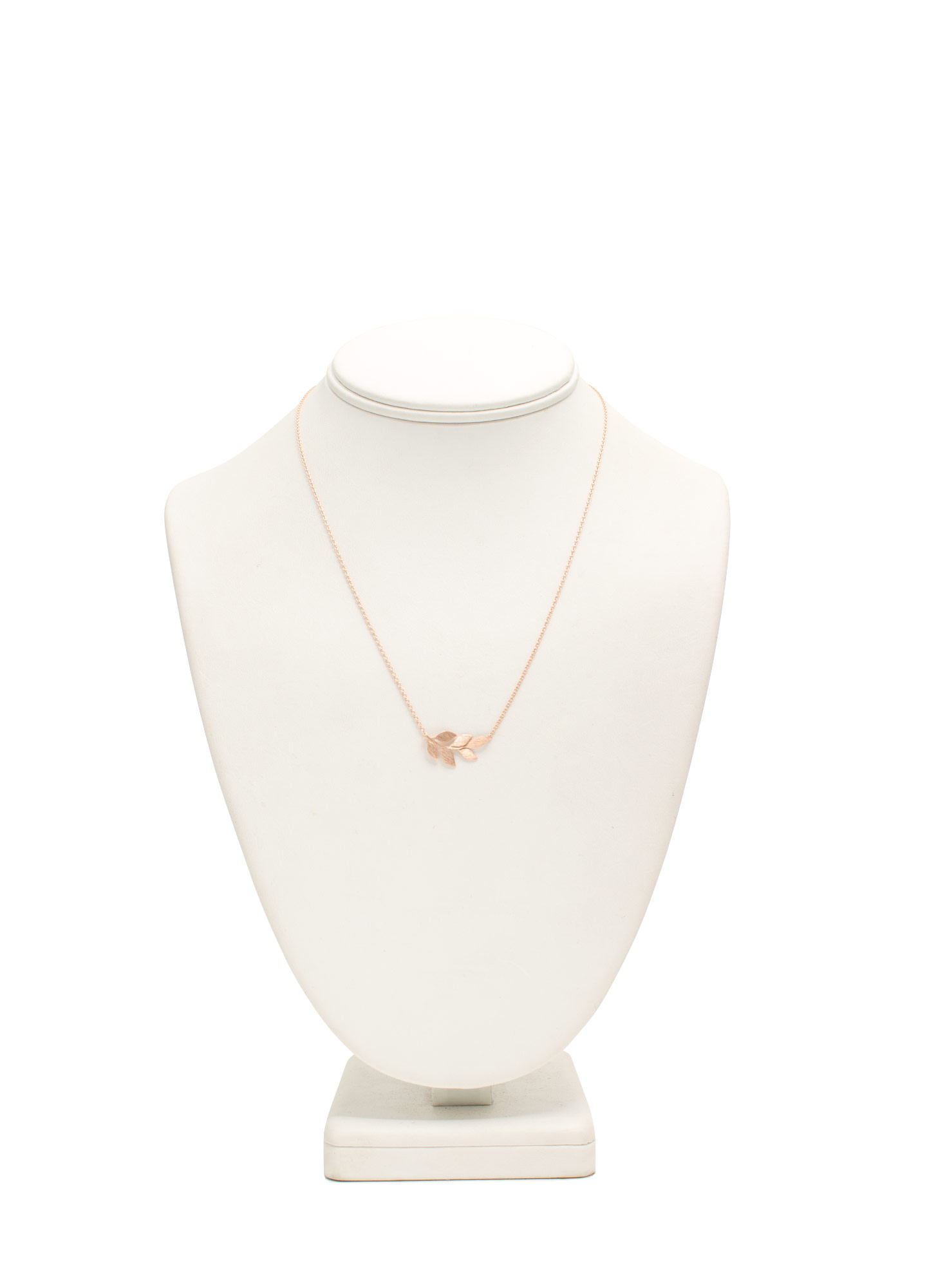 Branch Of Leaves Dainty Necklace ROSEGOLD