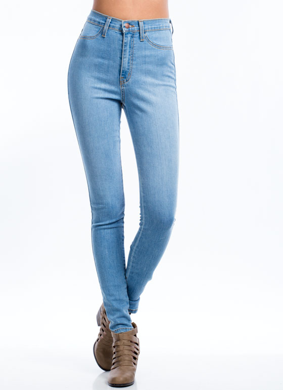 Take The High-Waisted Road Jeans BLUE