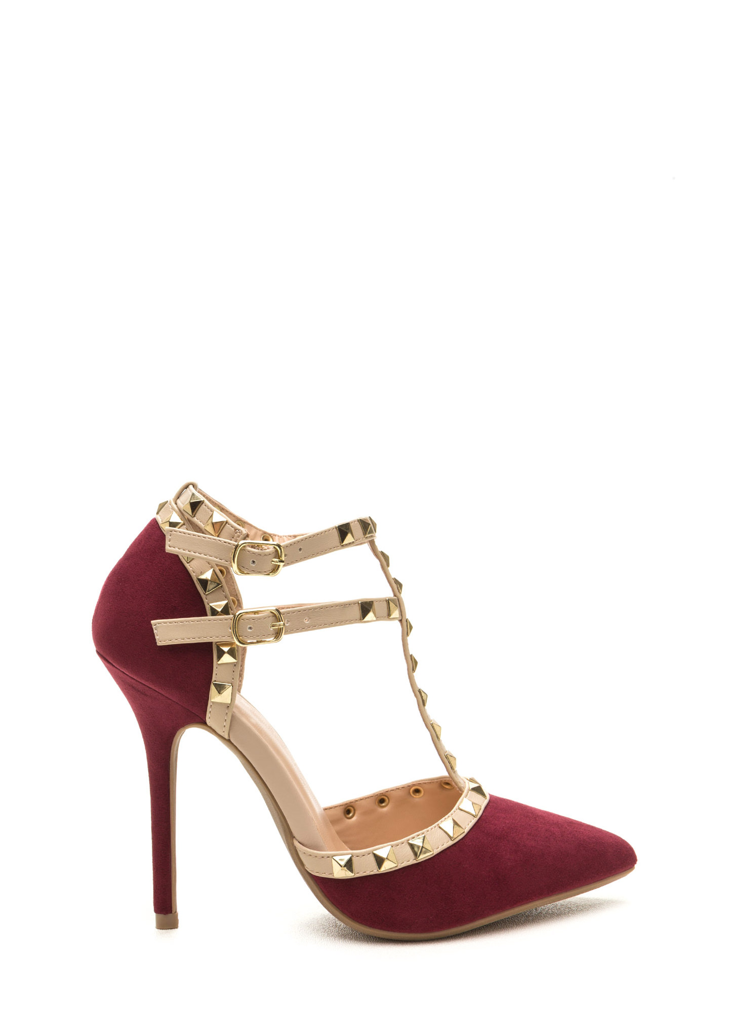 To The T Pointy Heels BURGUNDY