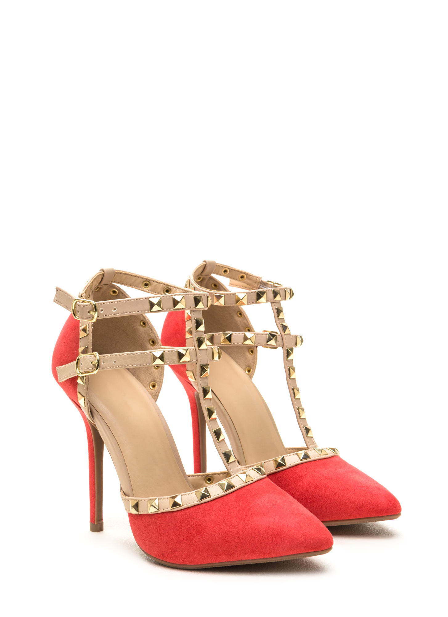 To The T Pointy Heels HOTCORAL