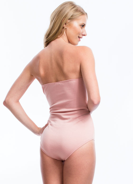 The Newest / Holiday Steals All / Strapless Bow Front Bodysuit