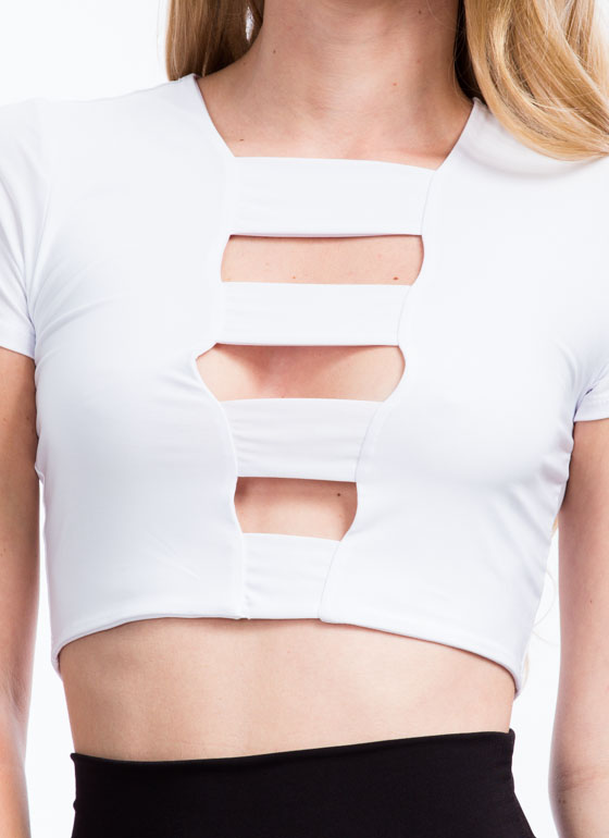 Ladder Of Success Strappy Cropped Top IVORY