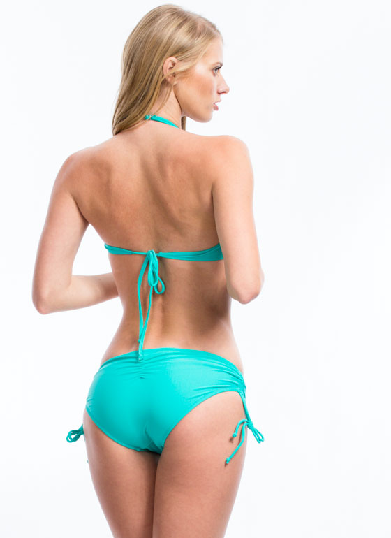Sun Worshipper Twisted Bikini Top EMERALD