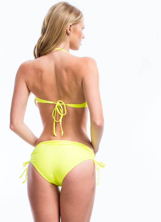 Sun Worshipper Twisted Bikini Top NEONYELLOW