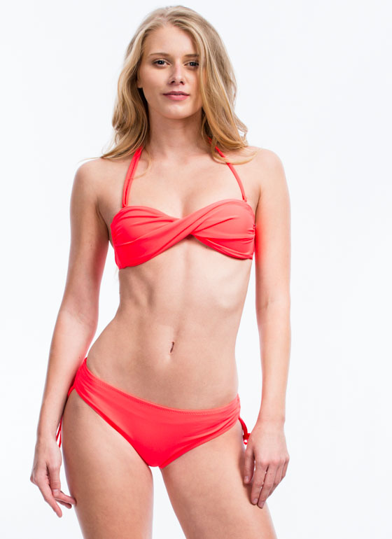 Sun Worshipper Ruched Bikini Bottoms NEONORANGE