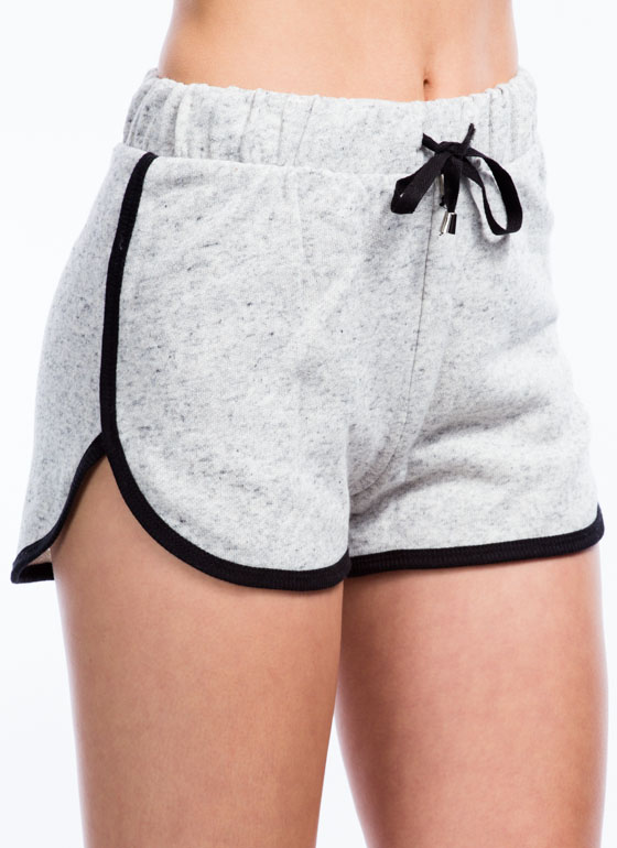 Sporty French Terry Shorts HGREY