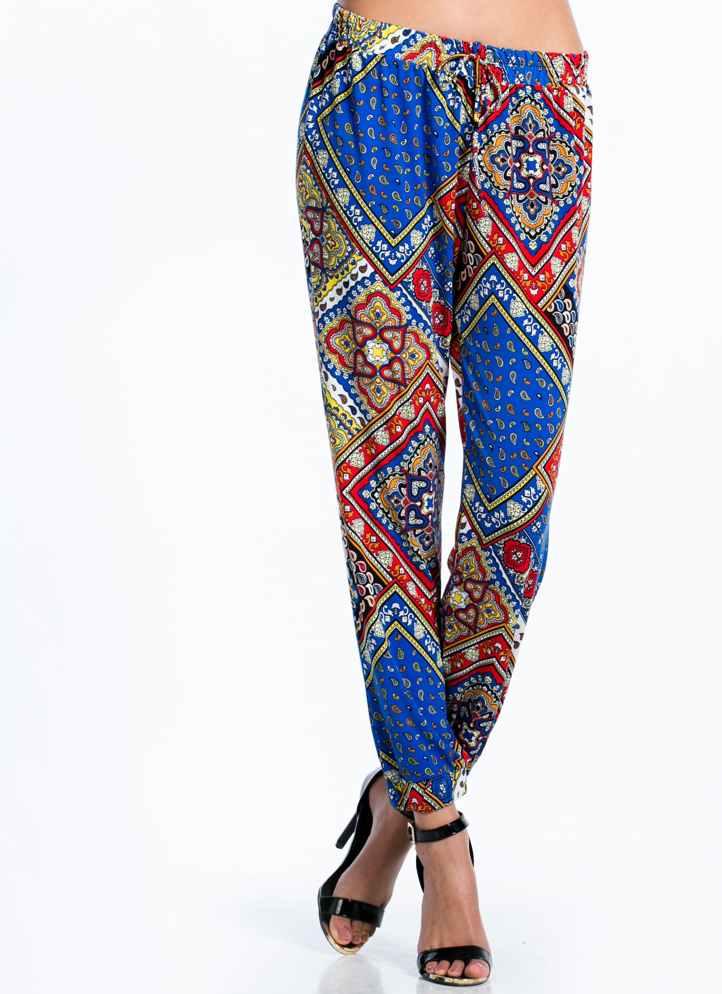 Paisley Perfection Printed Joggers ROYAL