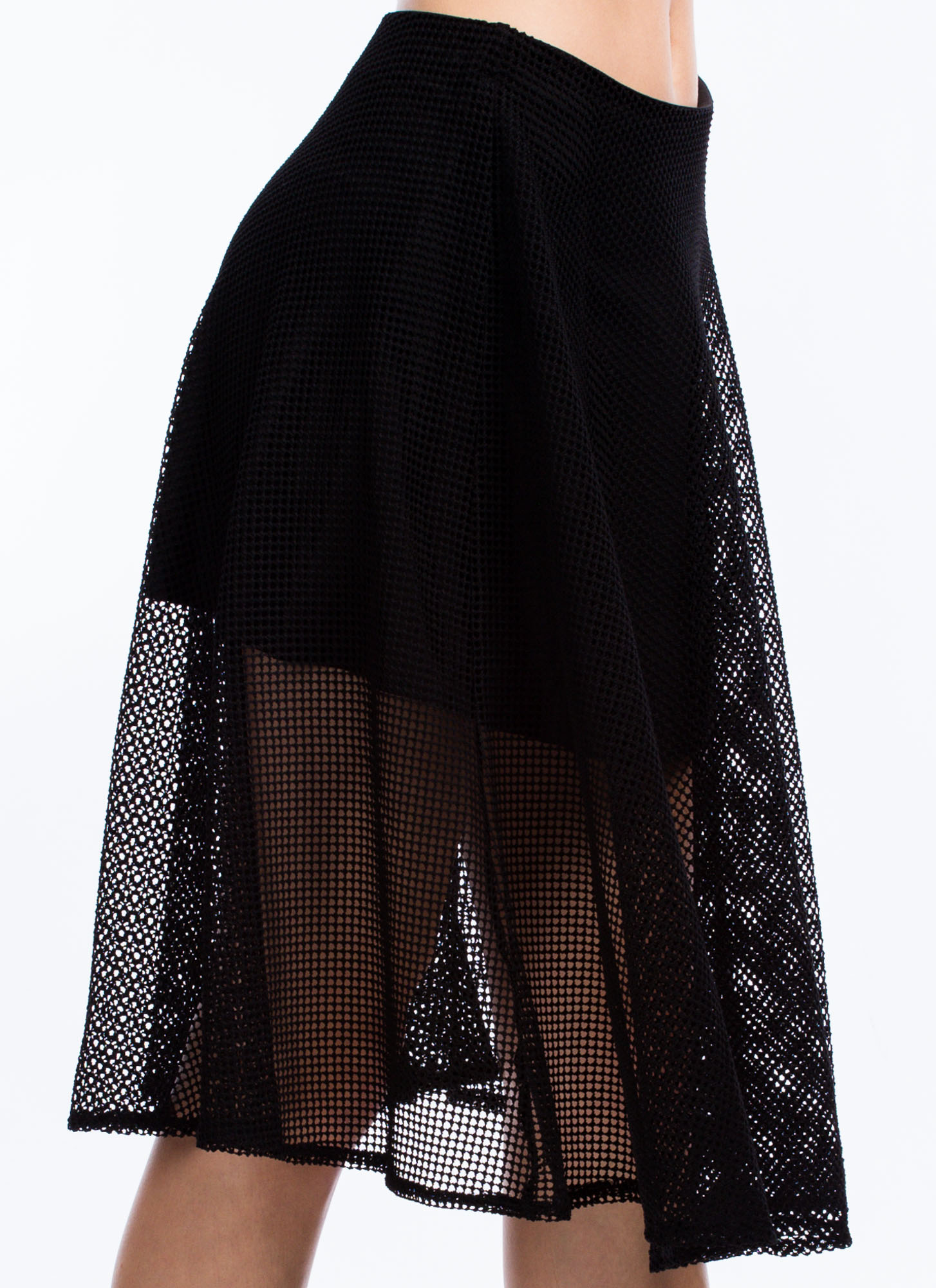 Net To Pay A-Line Skirt BLACK