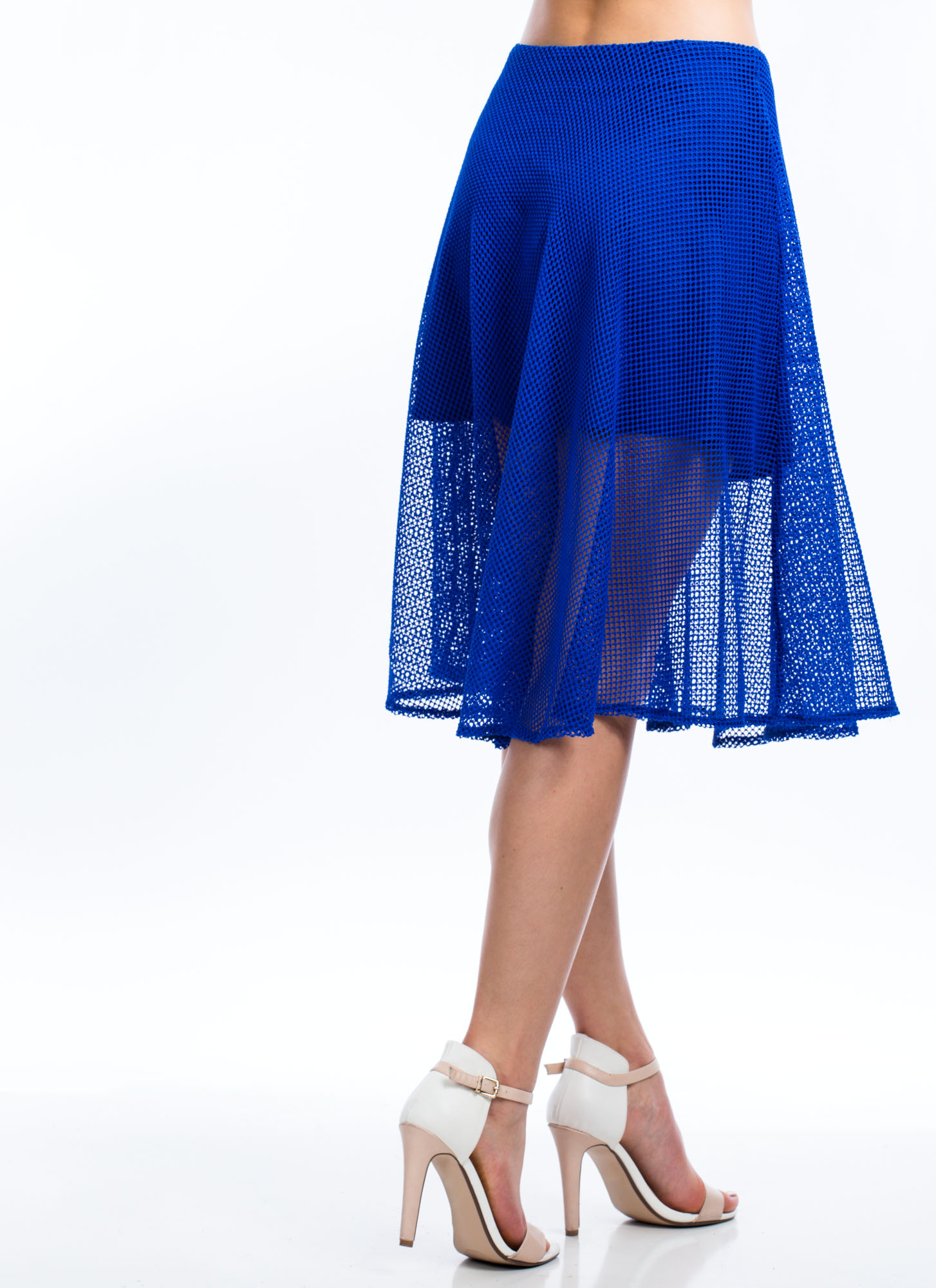 Net To Pay A-Line Skirt ROYAL