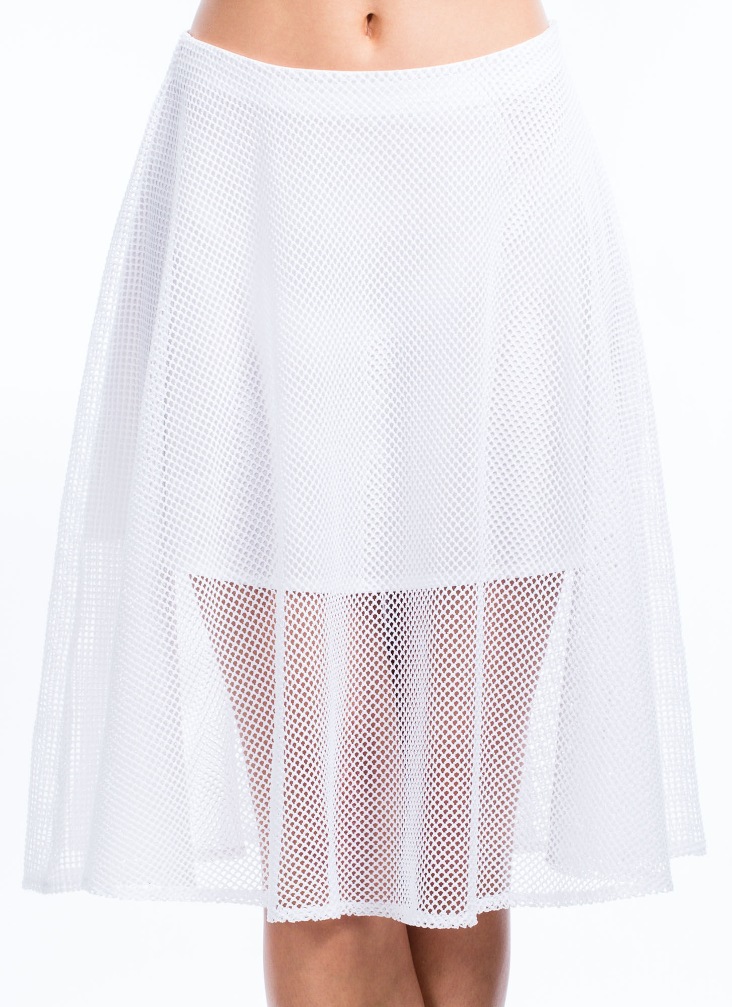 Net To Pay A-Line Skirt WHITE