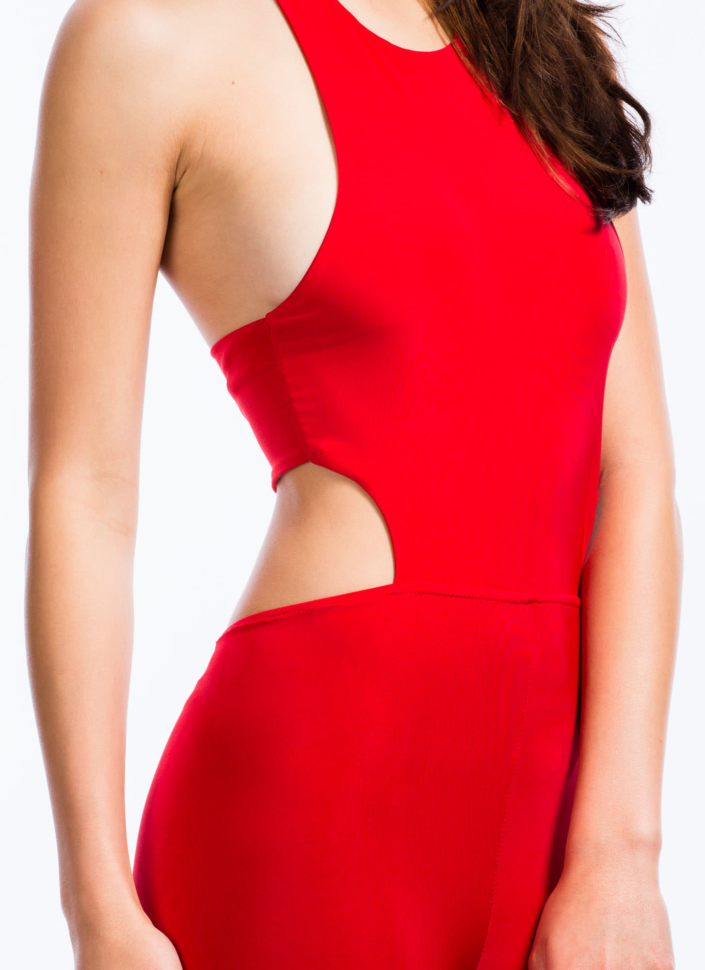 Smooth Criminal Halter Jumpsuit RED