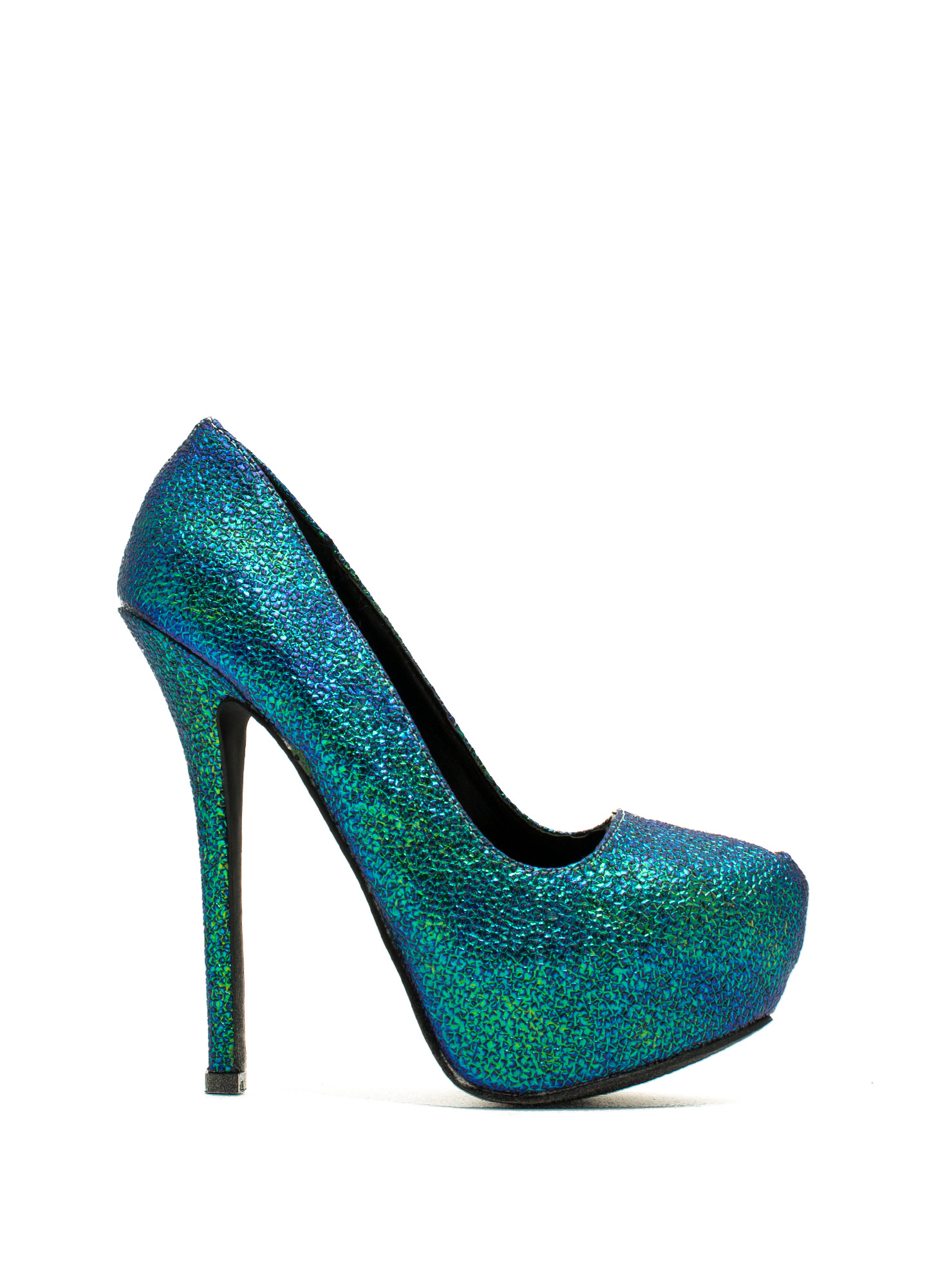 Steal The Sheen Pebbled Platforms TEALMULTI