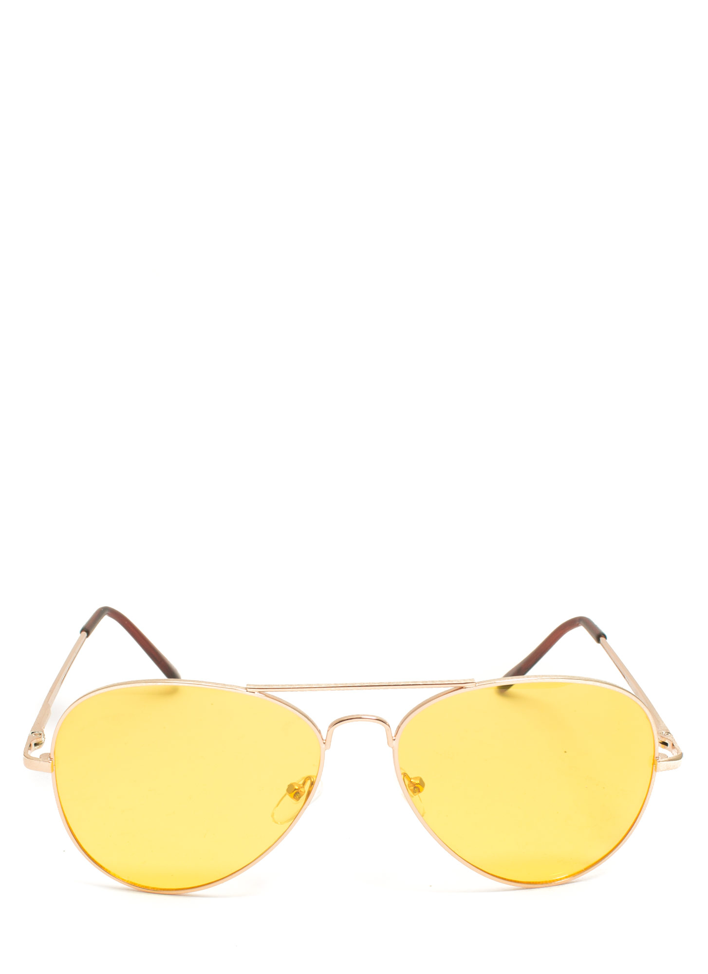 Color Daze Aviator Sunglasses YELLOWGOLD